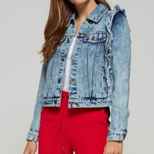 ELAN RUFFLE DENIM JACKET